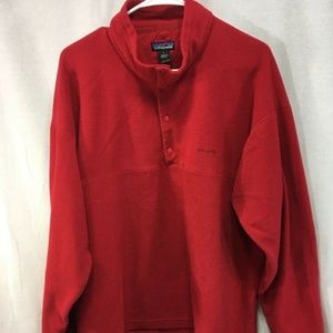 Red Fleece Pullover Patagonia T-Snap Coat Sweater